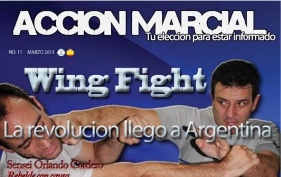 Nota de la Revista Acción Marcial